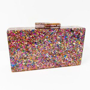 Closet Rehab Bags - Acrylic Party Box in Multicolor Glitter